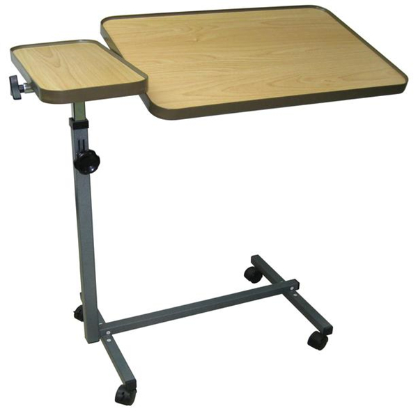 Laptop Over Bed Table Adjustable Rolling Portable Mobile Table Carts Tray Stand