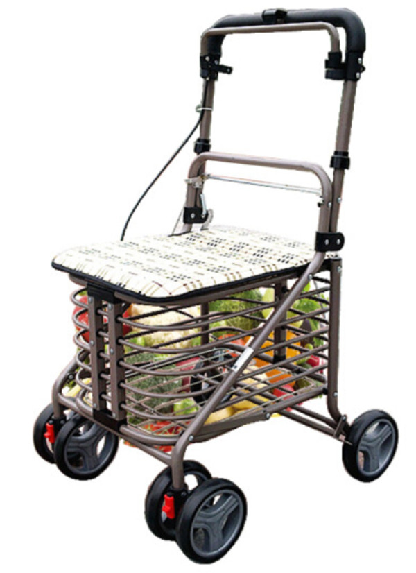 III- Medline Rollator Walker with Seat and Wheels, Folding Walker for Seniors with Microban Antimicrobial Protection, Durable Steel Frame Supports Up to 150kg