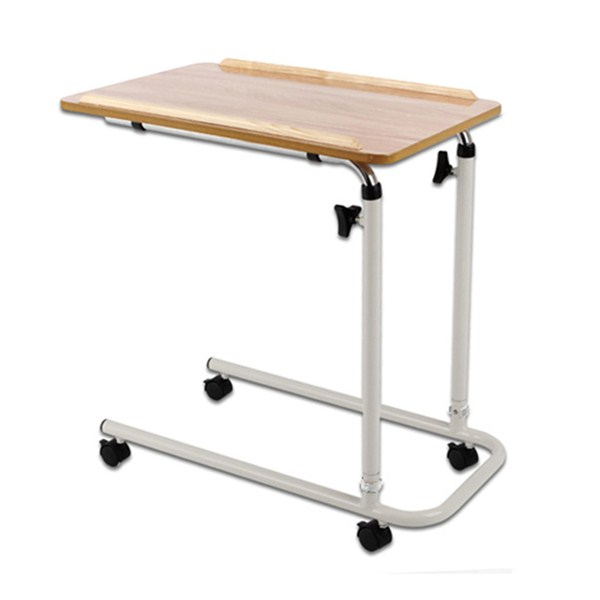 Home Overbed Table with Tilting Top - Hospital Bed Table for Home Use Bed Tray Table for Eating and Laptops