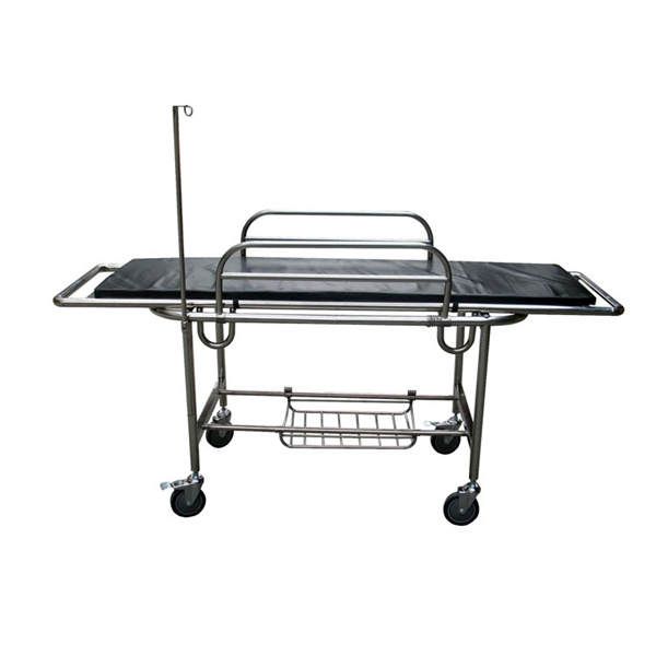 TRANSPORT TROLLEY REMOVABLE STRETCHER STAINLESS STEEL