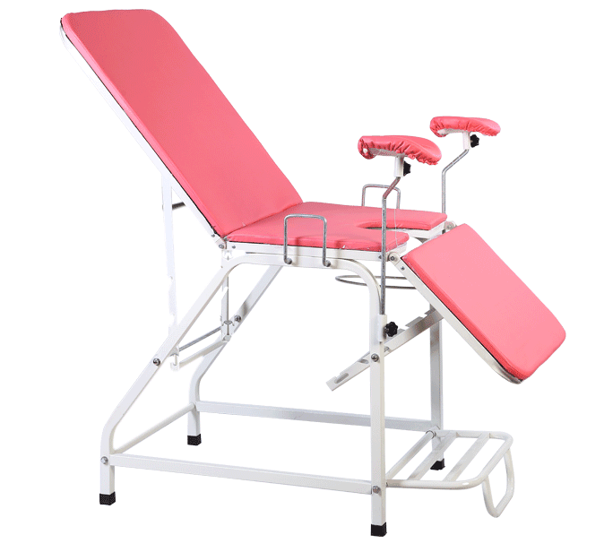 Chromed Steel Tube Gynecological Examination Fixed-Height Table